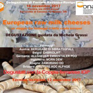 European raw milk cheeses